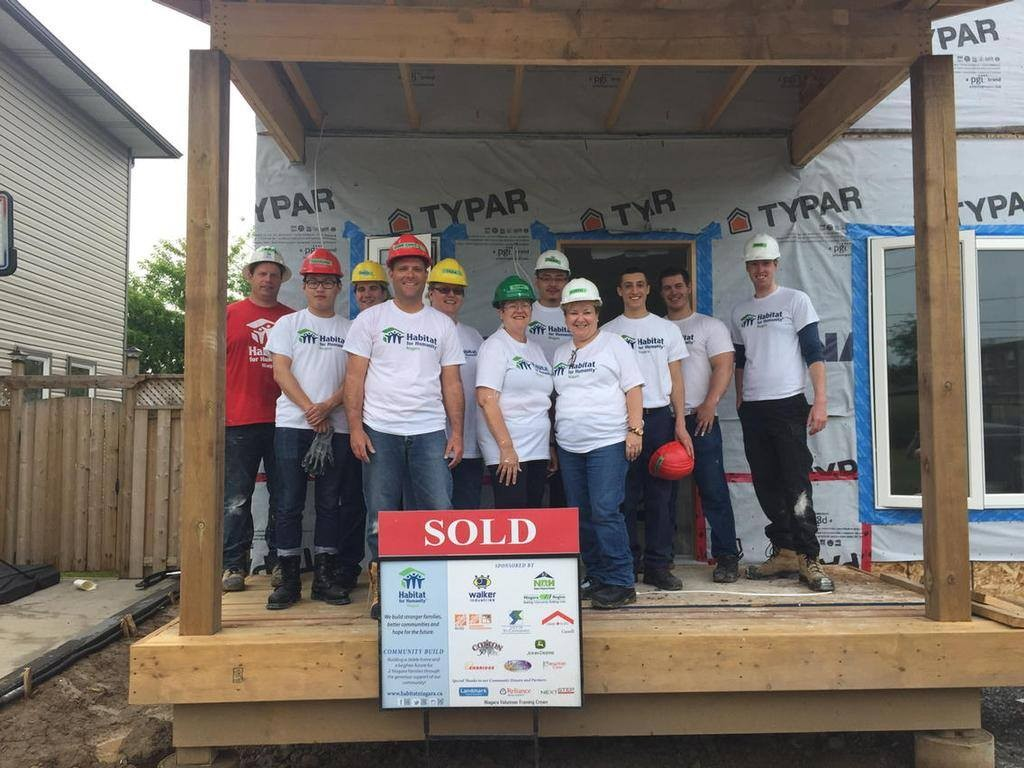 City of St. Catharines helping out at Habitat for Humanity - Photo by Councillor Mike Britton