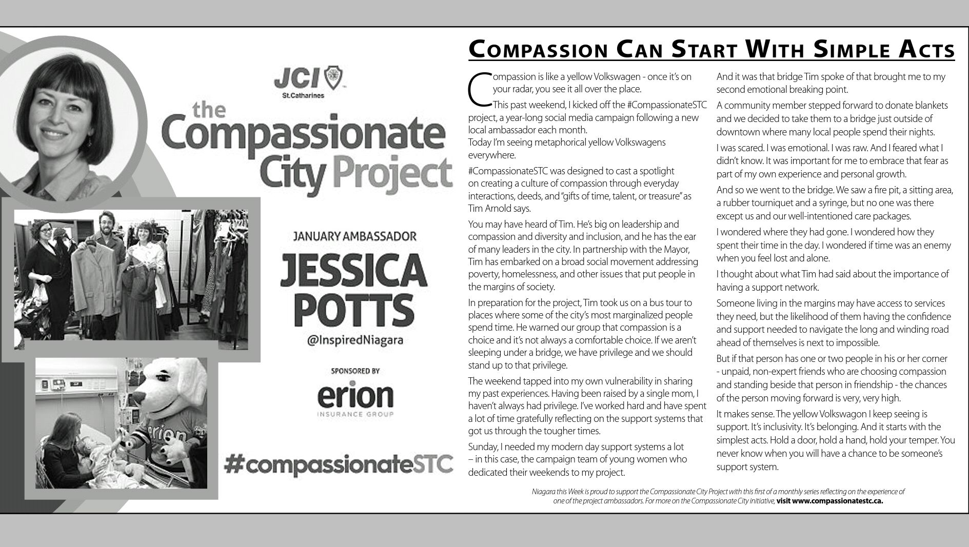 The Compassionate City Project: Compassion can start with simple acts – Jessica Potts