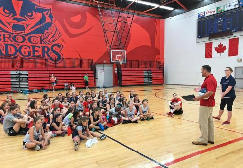 brock womens bball youth skills camp
